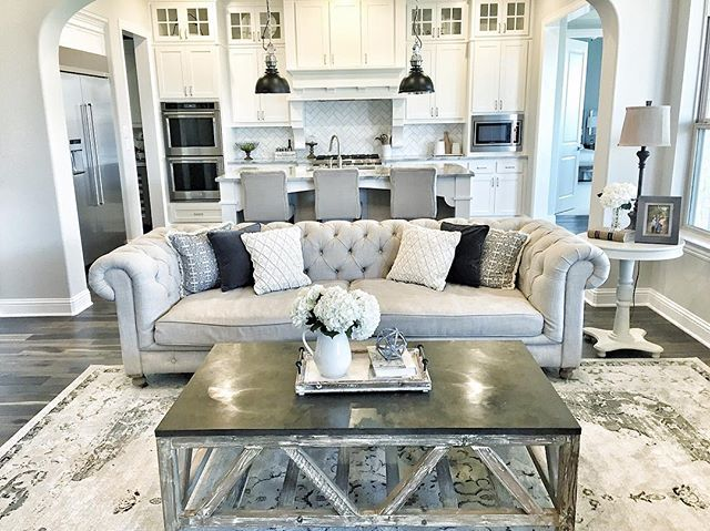 Happy Friday This Is Where My Family And I Will Be 4th Of July Tufted CouchKitchen Living RoomsLiving Room SetLiving CouchesGrey