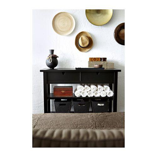 norden sideboard black entry ways storage boxes and. Black Bedroom Furniture Sets. Home Design Ideas