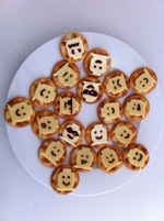 lego party food. Cheese and crackers