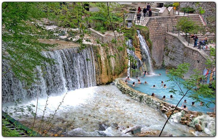 Natural thermal spa in Loutraki Aridaias -North Greece
