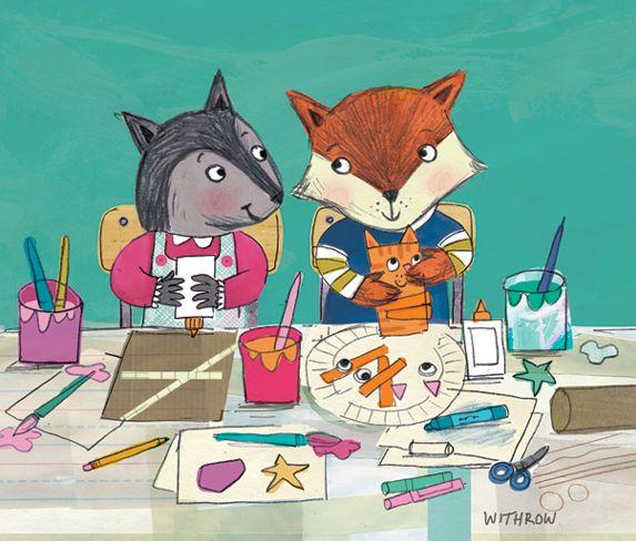 Animals making crafts