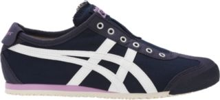 MEXICO 66 SLIP-ON is a lace-free version of the MEXICO 66, Onitsuka Tiger's most recognized style. The new slip-on construction ensures ease of wear and comfort. The shoe also keeps various elements from the original MEXICO 66, such as the design of the ankle reinforcement and the heel flap.