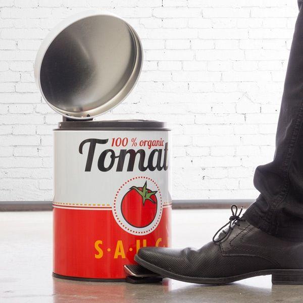 Balde do Lixo c/ Pedal Lata de Tomate