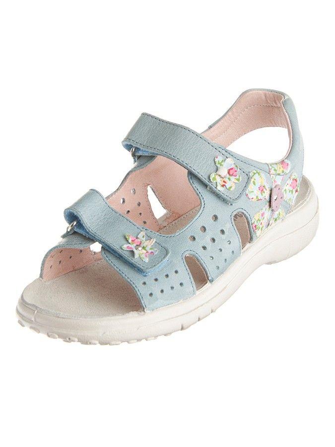 Dziecięce sandały z niebieskiej skóry - 157 PLN  #sale #limango #dzieci #buty #obuwie