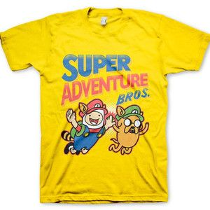 Super Adventure Bros. Anime Shirt ~ Adventure Time x Super Mario Bros. (T-Shirt) in the Crunchyroll Store