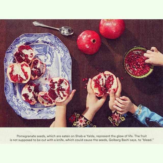 "By @FigAndQuince: ""#Yalda with the awesome @dr_bashi & lovely children for article in the paper. Photo by Hannah Whitaker for The New York Times. Story of Yalda and behind the scenes photo of the day of the shoot #ontheblog (Persians and #pomegranates! An ancient love affair!) Happy #Hannukah! Happy Yalda. Happy #Holidays. Happy #Christmas""."