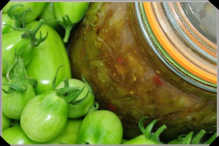 Green Tomato Chutney | canning&preserving | Pinterest