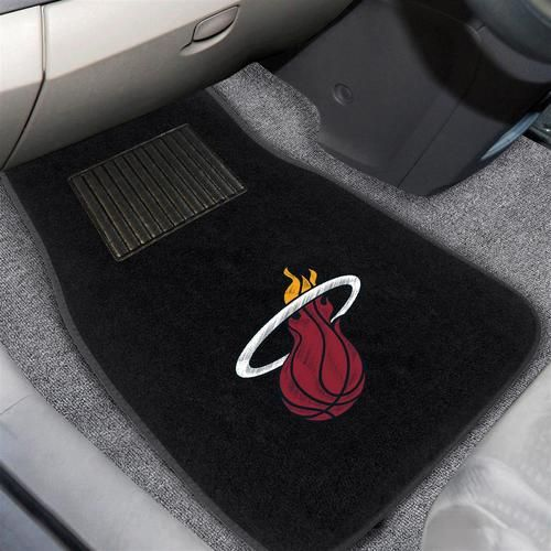 Embroidered Miami Heat Floor Mat Set