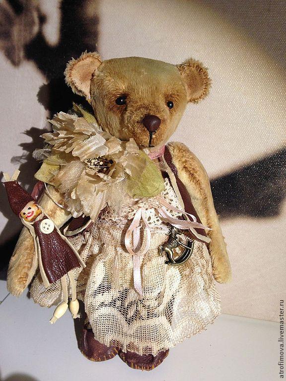 Купить Мишка Розочка - бежевый, подарок девушке, подарок на любой случай, мишка тедди авторский