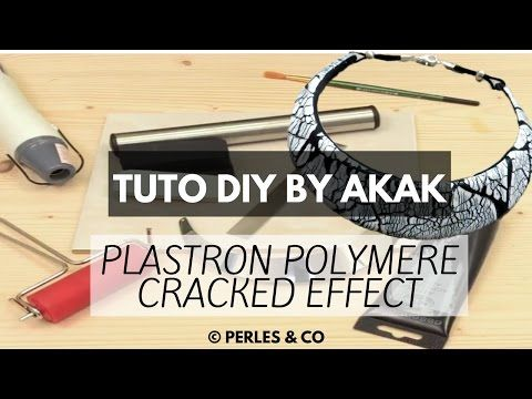 [TUTO] Création Collier Ethnique DIY Plastron Polymer Clay / Fimo Cracked Effect Akak Perles & Co - YouTube