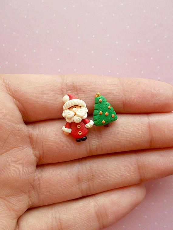 Christmas Earrings Santa Earrings Xmas Earrings