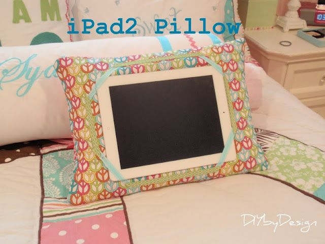 iPad pillow tutorial by DIY by Design.     How great to have something like…