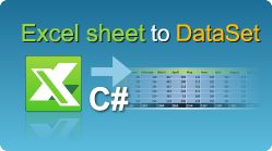 Import Excel sheet to DataSet in C#.NET using EasyXLS Excel library! The data is imported from a specific Excel sheet.  #Excel #CSharp #Import