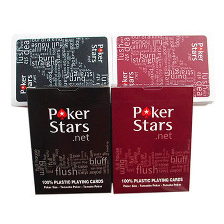 1 Set Poker Stars Texas Hold'Em Plastic Playing Cards Waterproof Frosting Poker Card Pokerstar Board Game P15