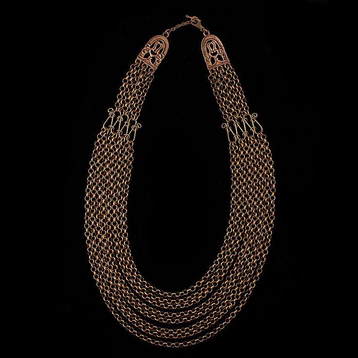 """Kalevala Koru, vintage """"Hämäläinen juhlakääty"""" bronze necklace. #Finland…"""