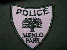 Menlo Park Police patch, California - old style