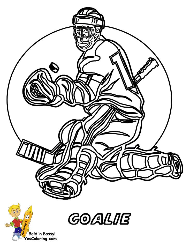 Gongshow Hockey Coloring Sheets
