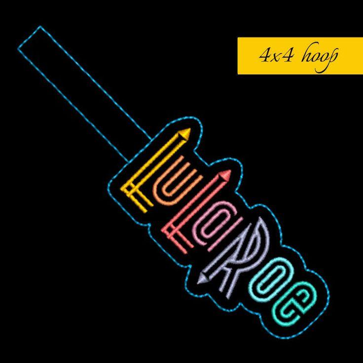 LuLaRoe logo In The Hoop Snap Tab Key Fob Machine Embroidery Design by GretaembroideryShop on Etsy