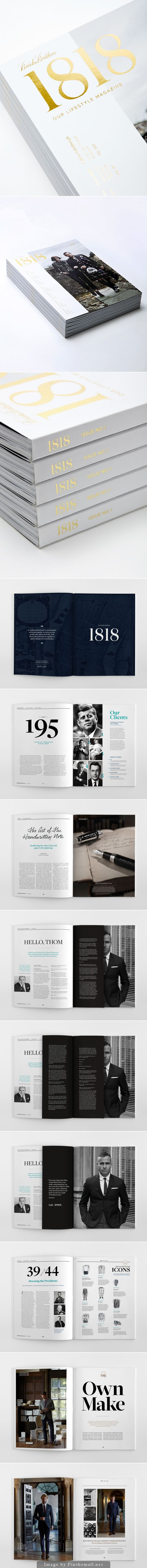 1818, BROOKS BROTHERS LIFESTYLE MAGAZINE. DESIGN BY Stephanie Toole - created via http://pinthemall.net