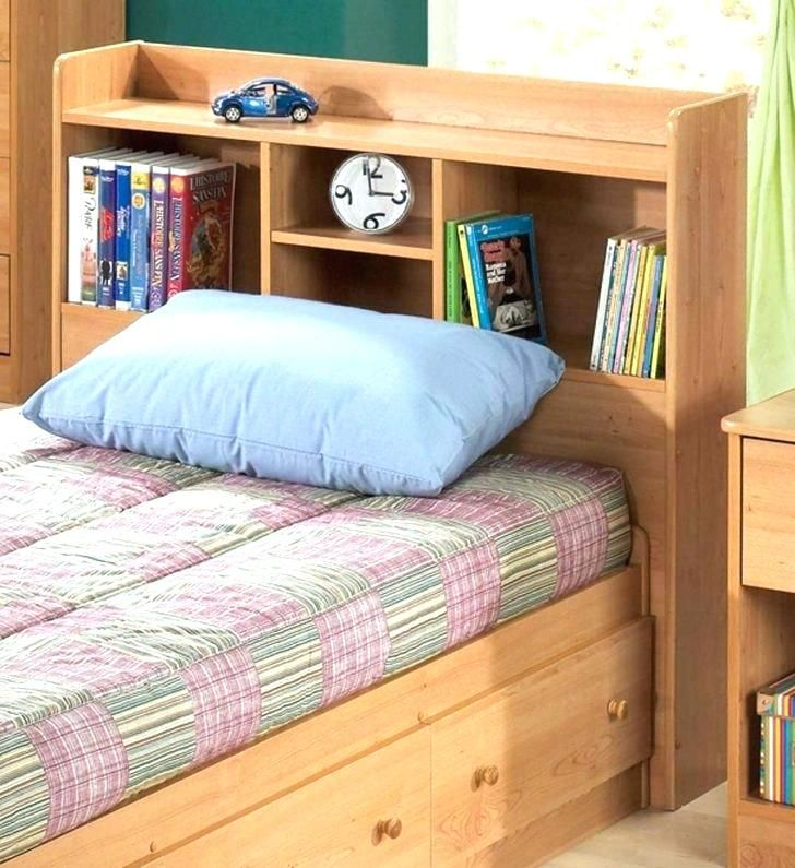 Twin Bed Bookcase Headboard King