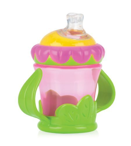Nuby Flower Child Twin Handle Cup - Store your child's drink in this colourful cup!