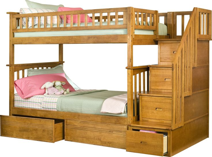 Columbia Twin Over Twin Stairway Bunk Bed