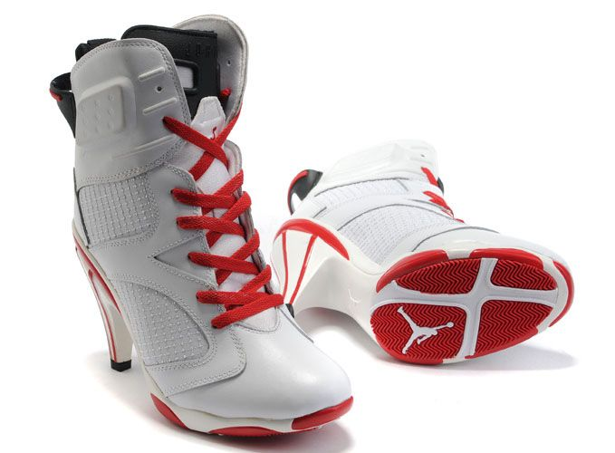 Buy Air Jordan 6 VI Womens Heels Ankle Boots 2012 White Red On Sale  Discounted from Reliable Air Jordan 6 VI Womens Heels Ankle Boots 2012  White Red On Sale ...