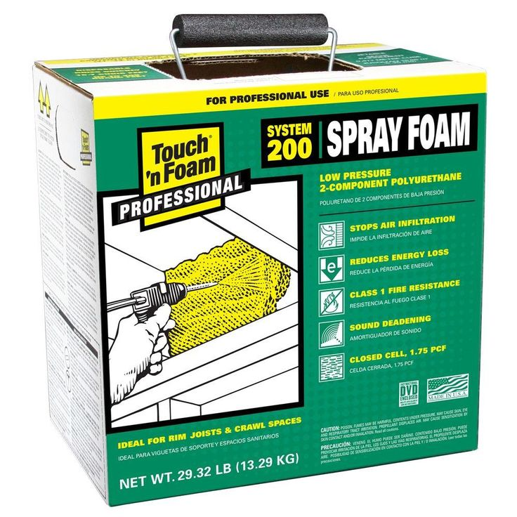 Touch N Foam 200 Ft Board Polyurethane 2 Component Spray Foam Kit 4006022200 The Home Depot Spray Foam Insulation Kits Spray Foam Diy Spray Foam Insulation