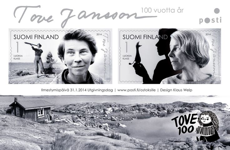 Finnish stamps were released in January 2014 to celebrate the 100th anniversary of the birth of Tove Jansson.