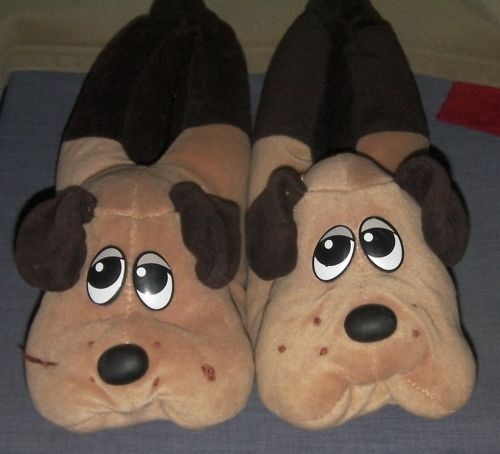 POUND PUPPIES Plush BEDROOM SLIPPERS