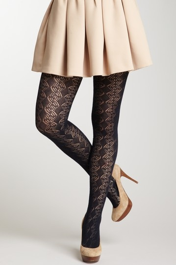 Pointelle Crochet Tights by French Curve on @HauteLook