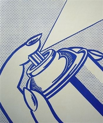 Another Roy Lichtenstein: Spray Can, 1964  Lithograph, Stone lithograph