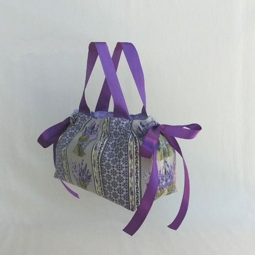 Basket, basket, Multi pockets, fabric, Provence lavender ...
