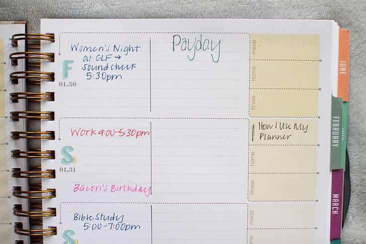 How I use my inkWELL Press planner. | My Favorite Adventure