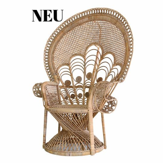 rattan lady >peacock chair elegant< natur / HKLIVING, NEU BEI IN THE ATTIC