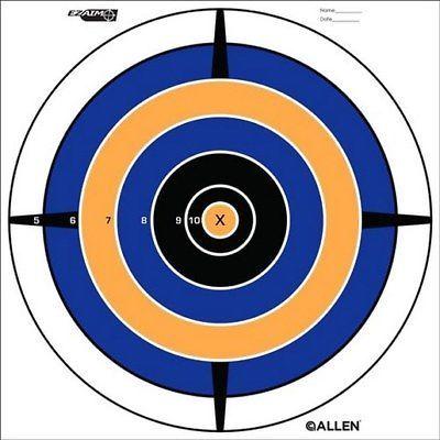 "Allen 15206 EZ Aim Bullseye Paper Target Blue/Orange 8""x8"" Package Of 12"