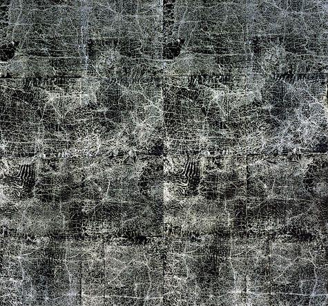 Guillermo Kuitca, Everything, 2003, técnica mixta sobre lienzo.