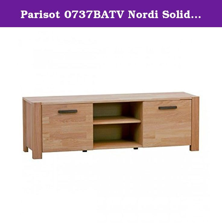 Parisot 0737BATV Nordi Solid French Oak TV Table. Contemporary Nordic style: this Scandinavian style table is kept simple and practical in detail, and is light oak woodgrain finish that will enhance any color scheme in your home decor. Entertainment center design: built low to be at the perfect Height to watch TV, with storage for all TV equipment. Finger-jointed oak veneer finish: a durable oak veneer finish, with a finger-jointed pattern of multiple shades of oak, adds both beauty and...