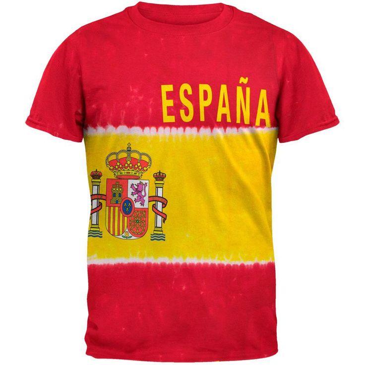 Spanish Flag Tie Dye T-Shirt