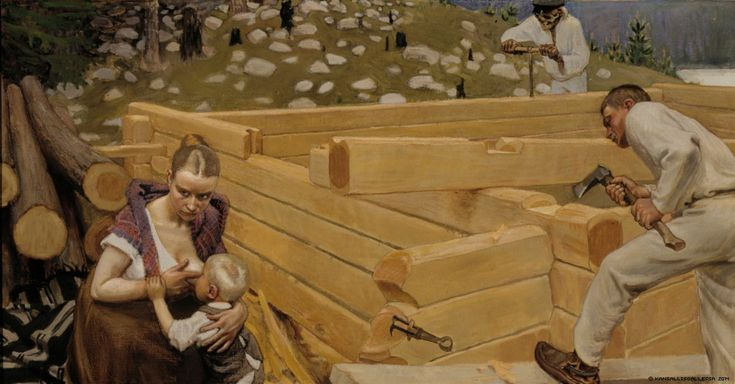 Freedom of profession was declared in 1879. A painting by Akseli Gallen-Kallela from 1903.