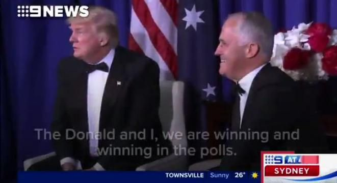 In an off-the-record dinner with reporters this week Australian Prime Minister Malcolm Turnbull took the piss out of Donald Trump. Thankfully, 9 News political editor Laurie Oakes recorded the talk, and released the tape.