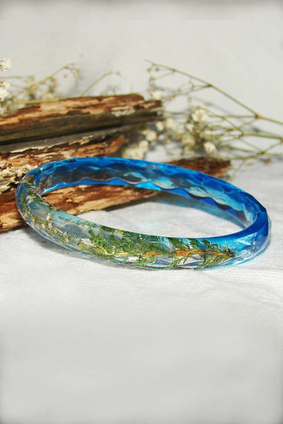 Nature Bracelet Gift Flower Women Jewelry Real Plant Bangle