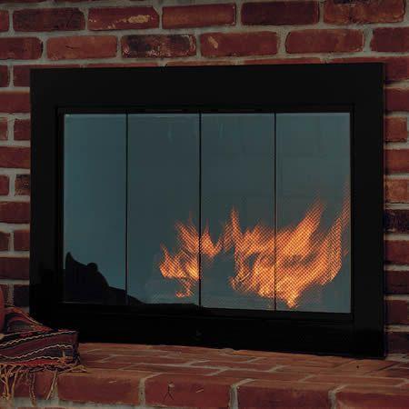 Slimline Fireplace Glass Door | WoodlandDirect.com: Fireplace Glass Doors  389 (would want - 17 Beste Ideeën Over Fireplace Glass Op Pinterest - Openhaard