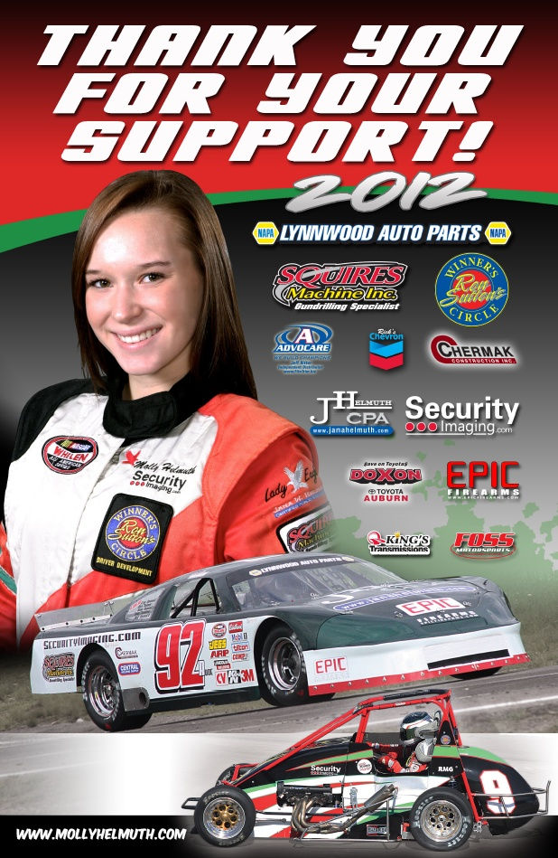 Molly Helmuth 2012 Support Poster Ideas For Sponsor