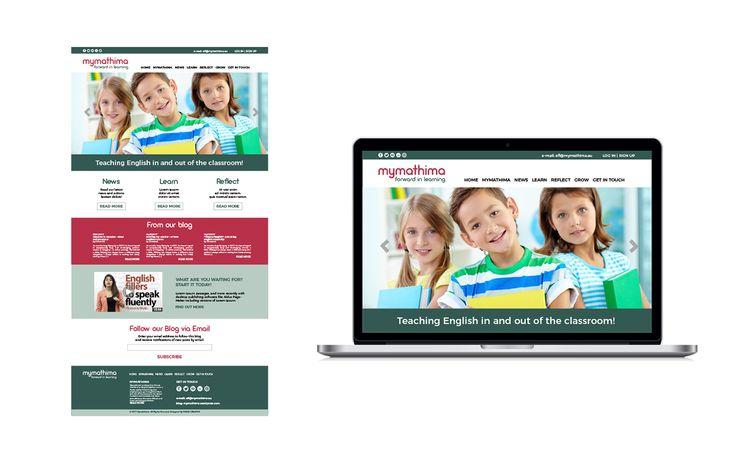 PAZLE Creative UI design for the web site www.mymathima.eu