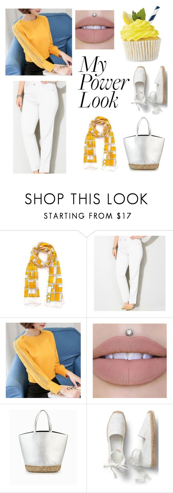 """""""Yellow Dream Power Look"""" by jasmine-hapsari ❤ liked on Polyvore featuring Joyce and Nim and Avenue"""