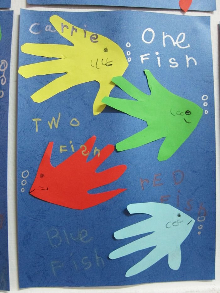 1 2 fish art and craft children education activities for Blue fish pediatrics