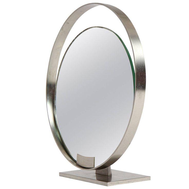 Modernist Steel Table Mirror Mirror
