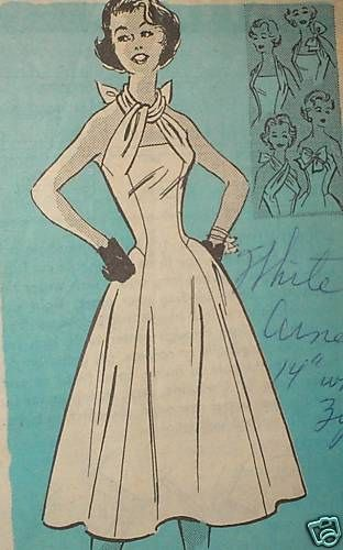 1950s Anne Adams mail order pattern 4899 - interesting strap/neckline detail