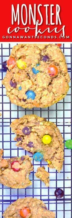 Monster Cookies- the Monster Cookies- these cookies are always a...  Monster Cookies- the Monster Cookies- these cookies are always a family favorite! Loaded with oats peanut butter and Tons of goodies! Super easy to make. All you need is a large bowl and wooden spoon! Recipe : http://ift.tt/1hGiZgA And @ItsNutella  http://ift.tt/2v8iUYW